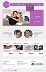 简洁欧美风格的婚庆摄影公司网站模板