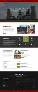 红色大气的工业生产企业网页模板下载