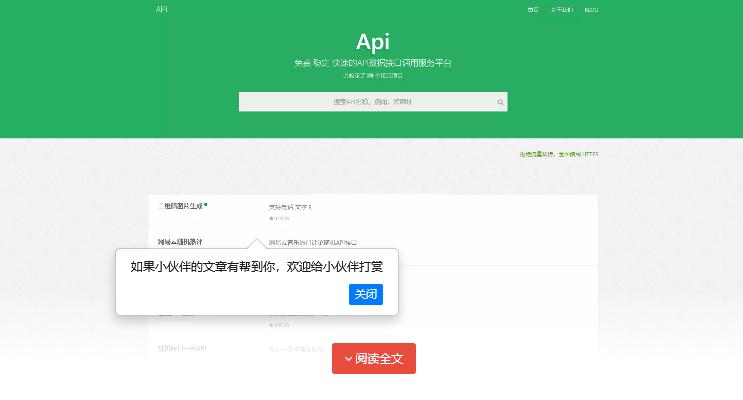 大米API源码 v2.0新UI版本 全网数据api调用平台 引流专用插图