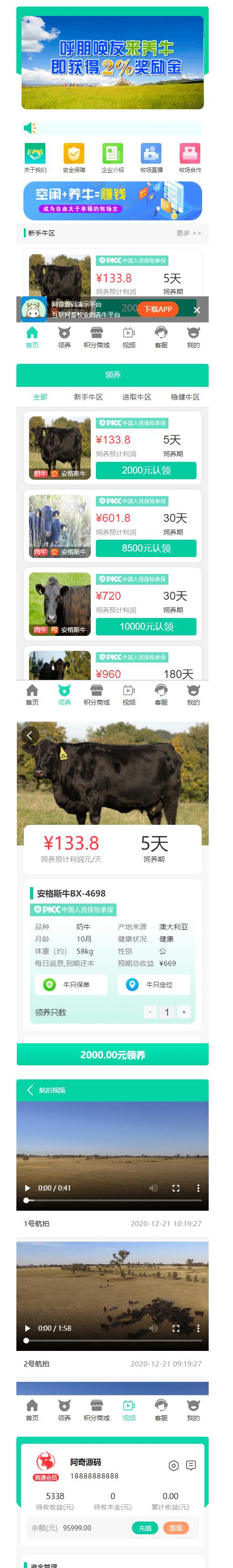【牧场养牛】带积分商城+抽奖+会员特权插图