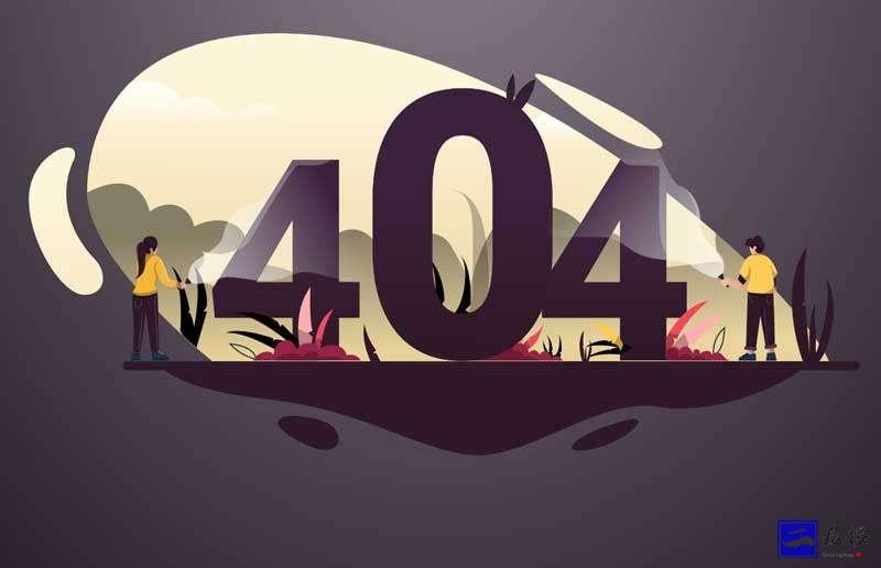 基于svg卡通404插画特效插图