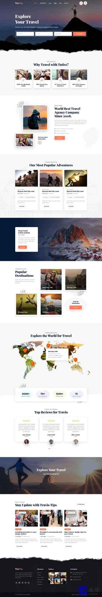 html5旅行社官网模板插图