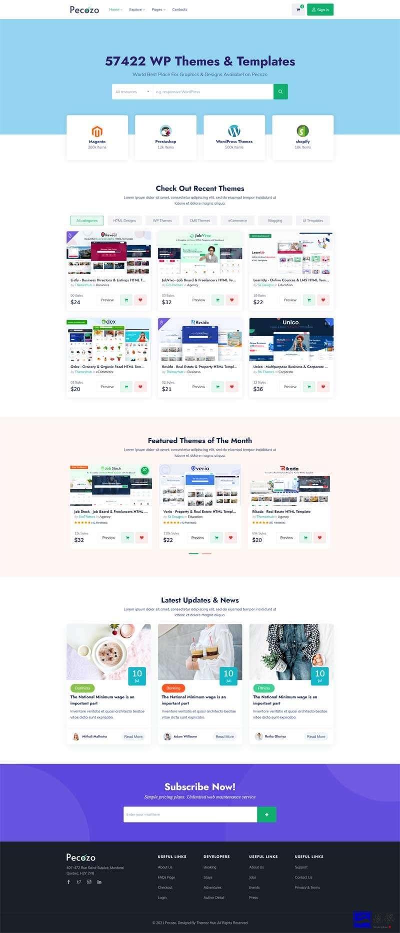 素材广告图片分享平台HTML模板