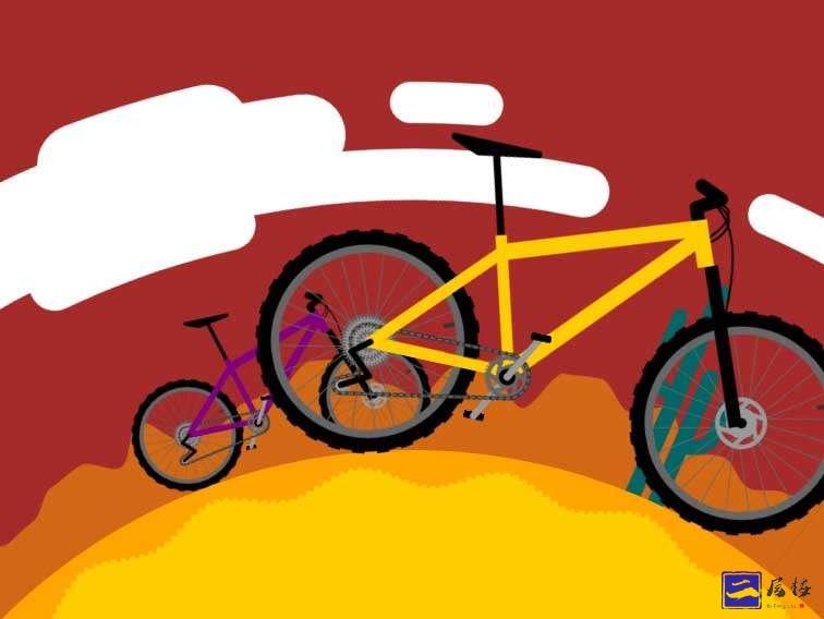 千里走单骑自行车svg特效插图