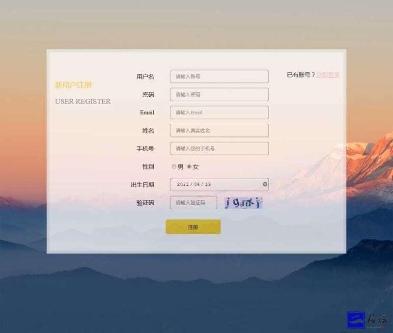 新用户注册表单ui界面模板插图