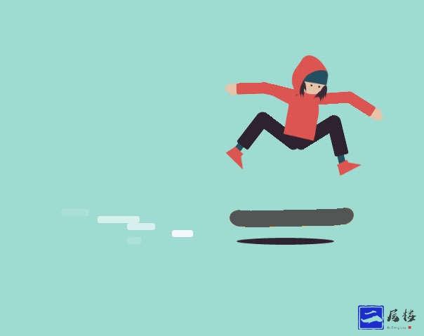 css溜滑板的人物动画特效
