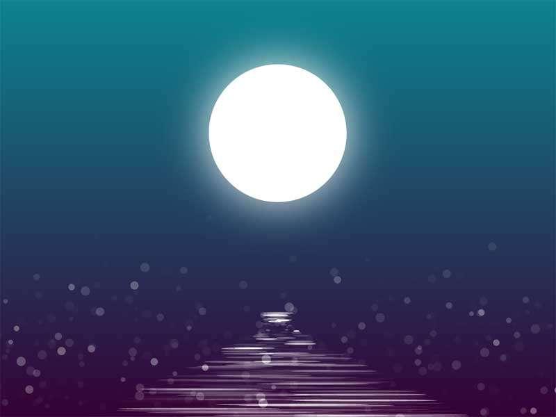 河面上的月亮倒影动画特效源码