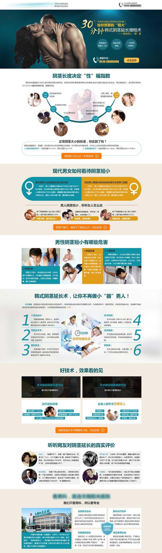 男科医院宣传设计模板psd下载