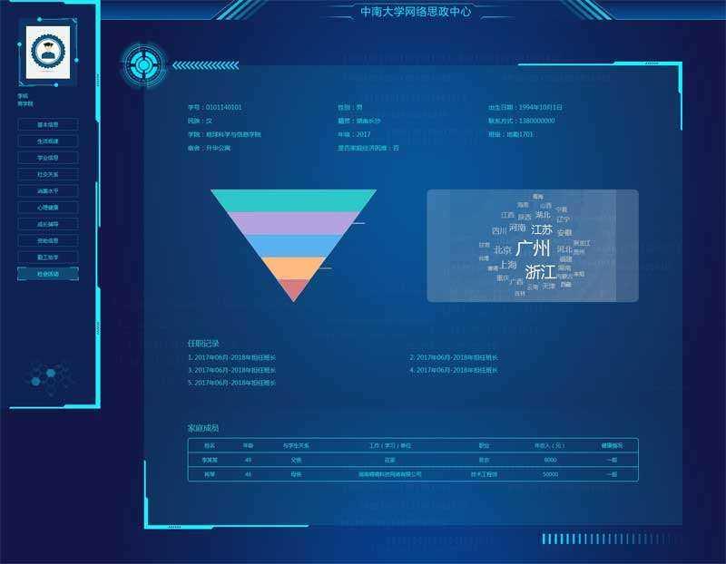 科技感十足的个人简历html网页模板