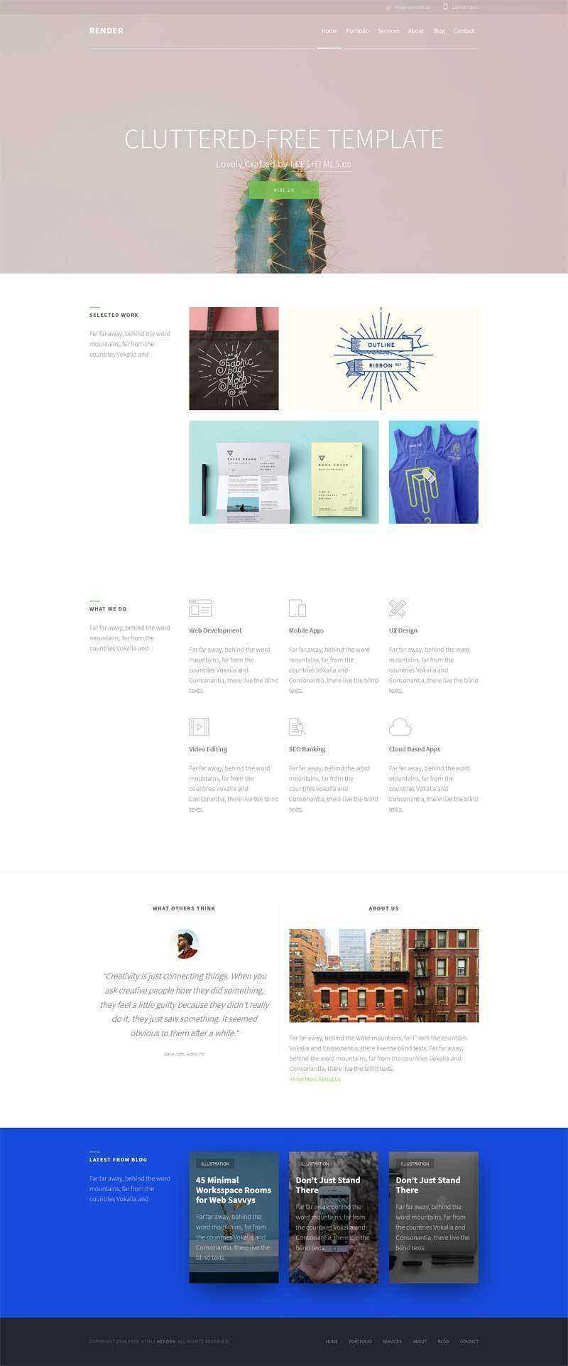 简单的平面设计师作品案例展示模板