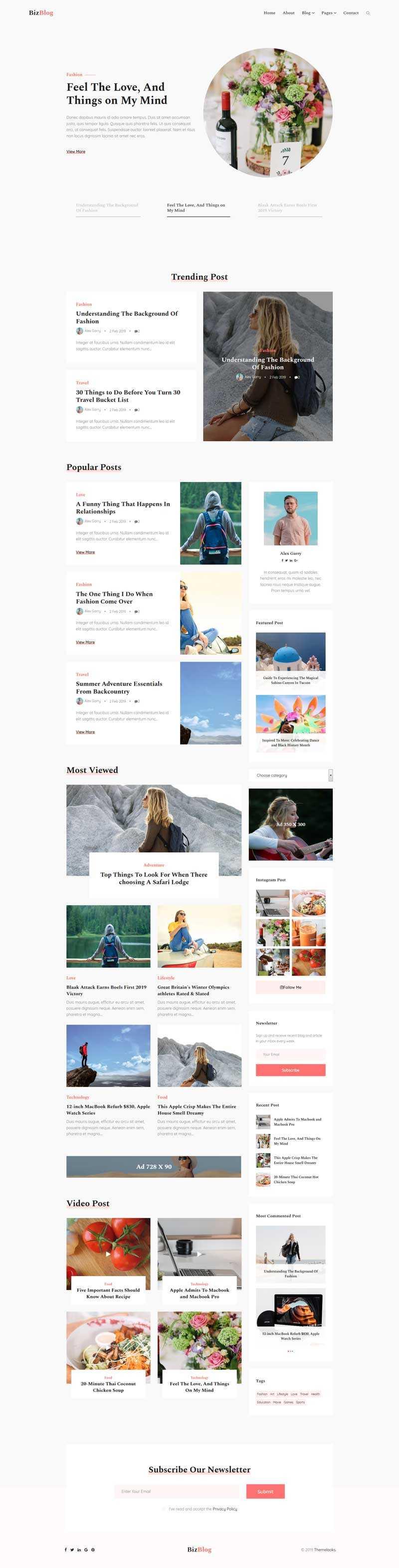 响应式生活博客设计网站HTML5模板