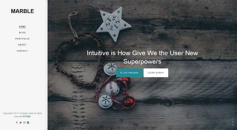 html5设计师作品展示博客模板