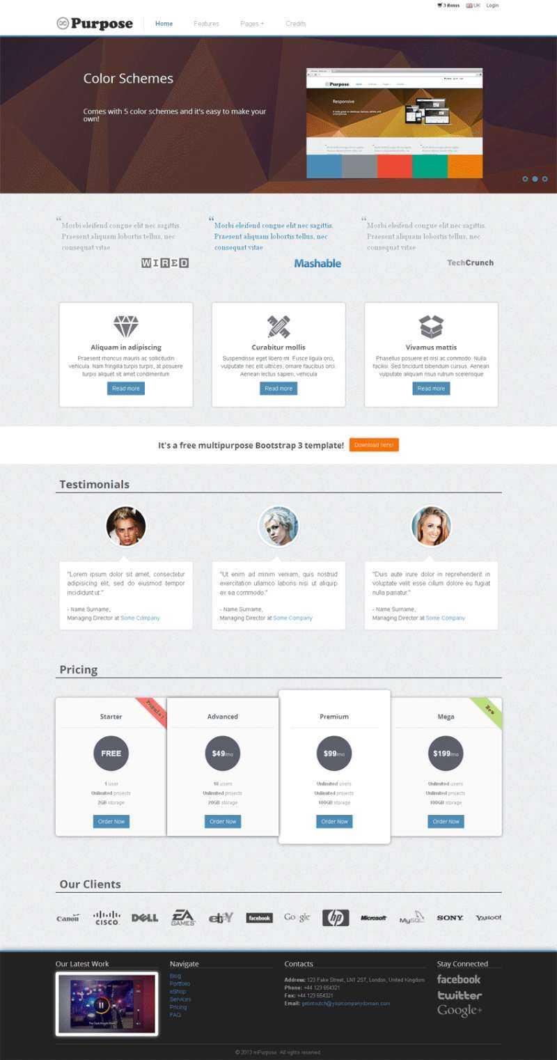 灰色简洁bootstrap网络外包公司网站模板源码