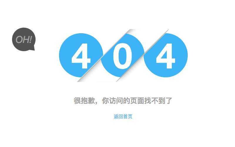 404数字动画错误页面