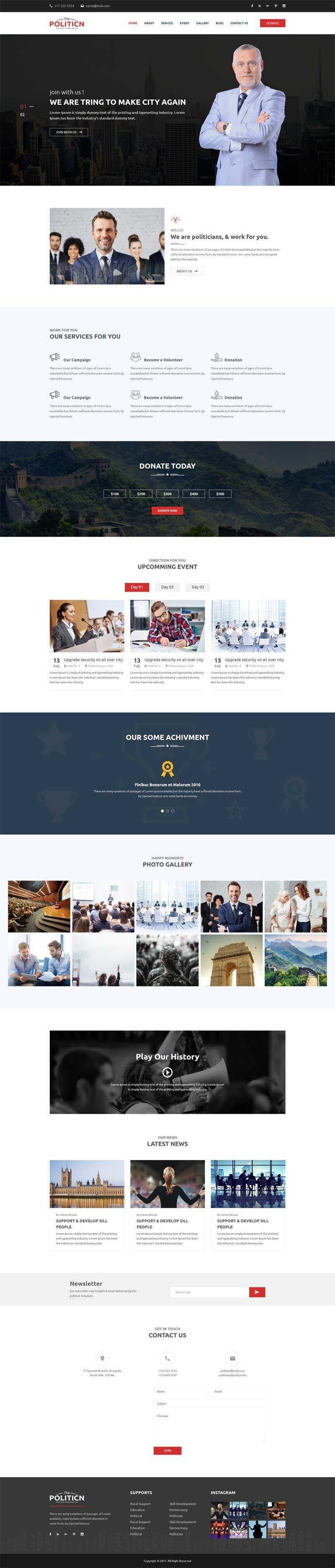 金融投资服务公司官网模板
