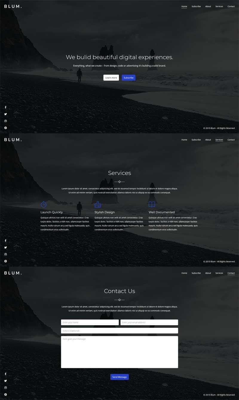 黑色全屏的即将上线网页模板