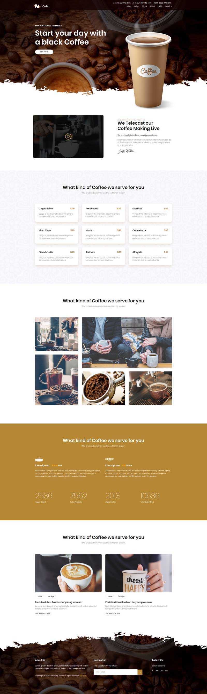 星巴克咖啡菜单介绍展示模板