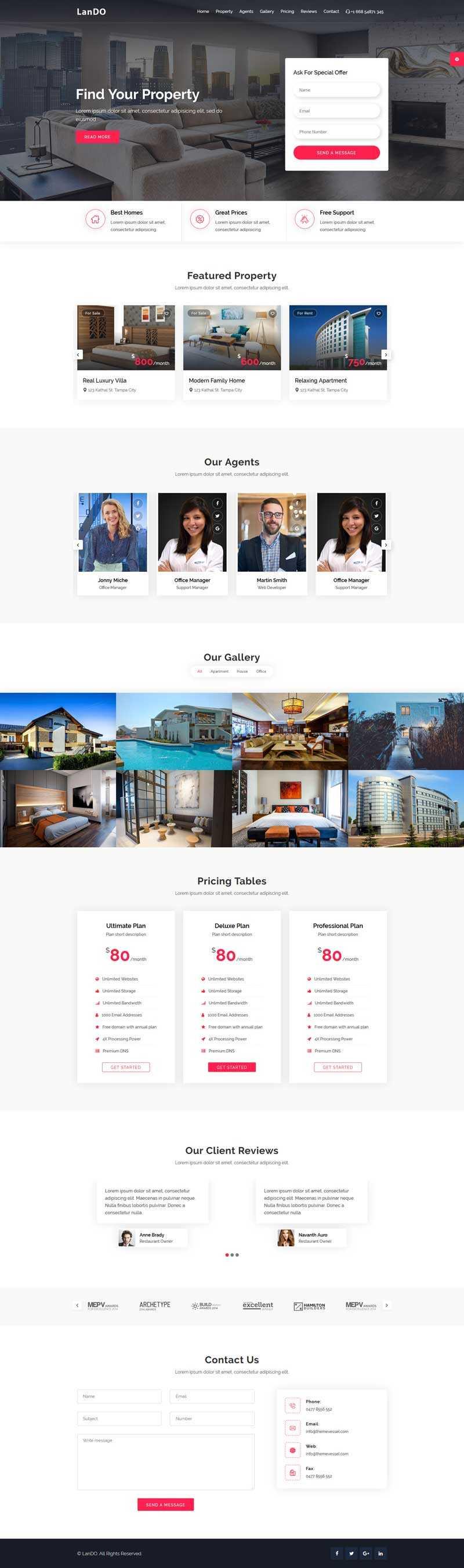 房产租赁服务介绍单页模板