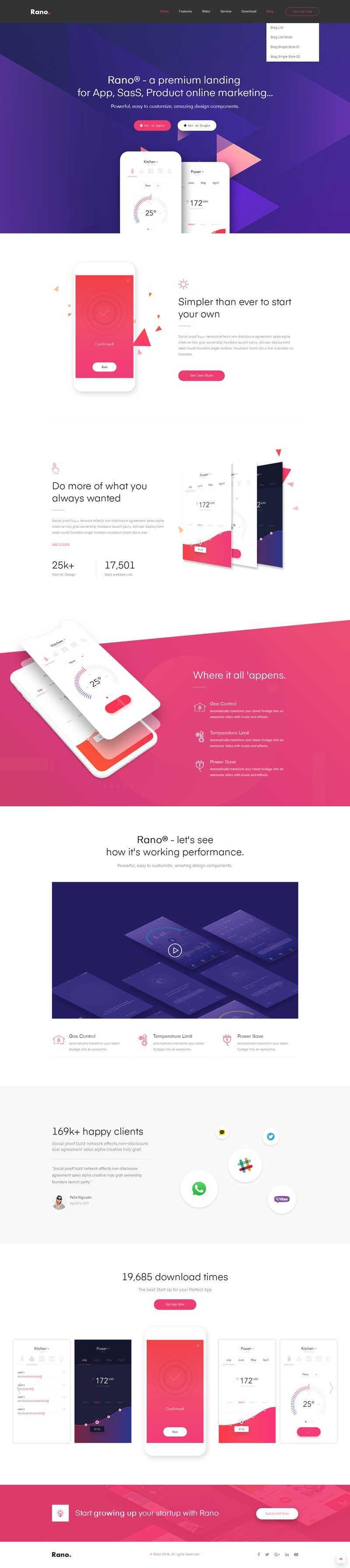 响应式的手机app软件下载网站html5模板