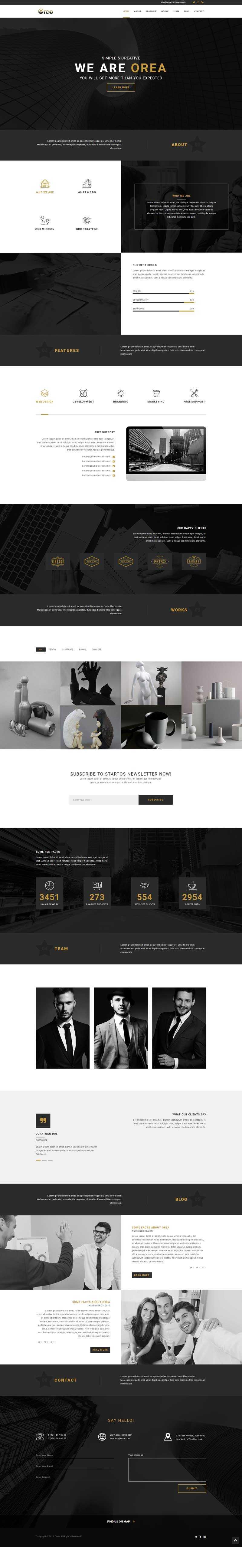 黑色的艺术设计师作品展示html5模板