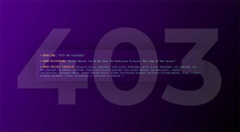 403程序报错页面模板