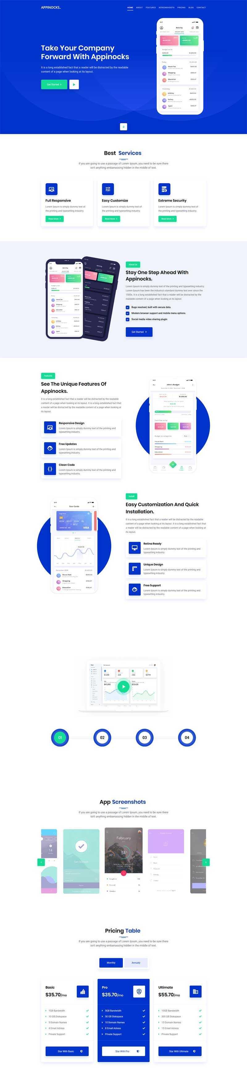 手机app应用程序官网模板