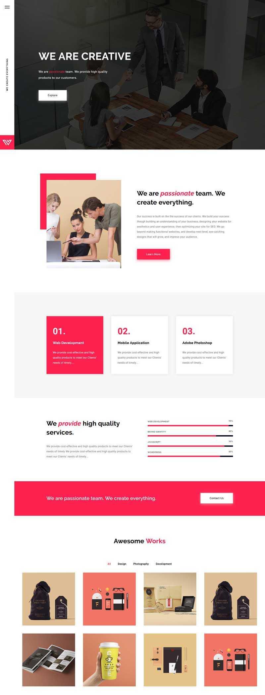 企业图片案例展示单页模板