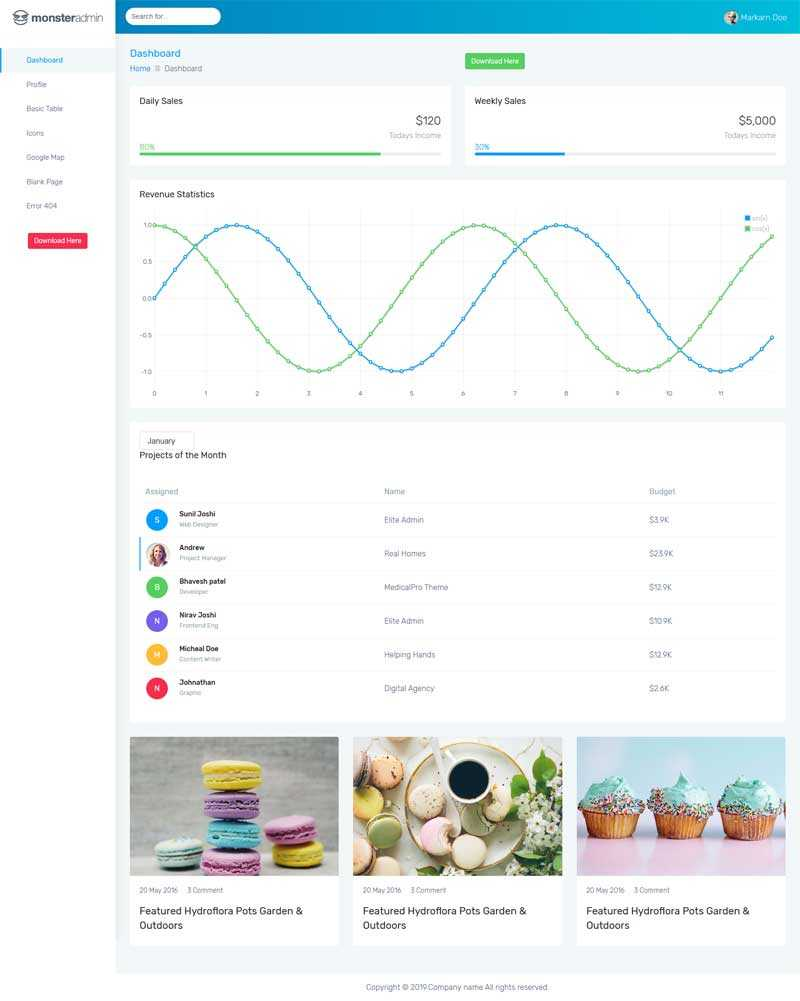 通用的OA销售统计系统页面模板