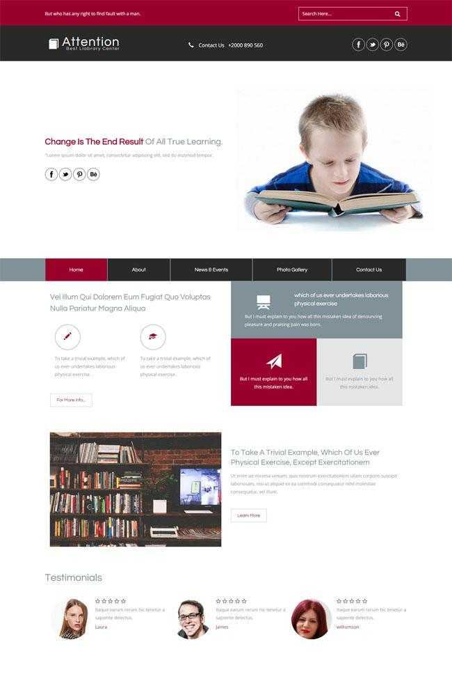 关于儿童教育的网站模板插图