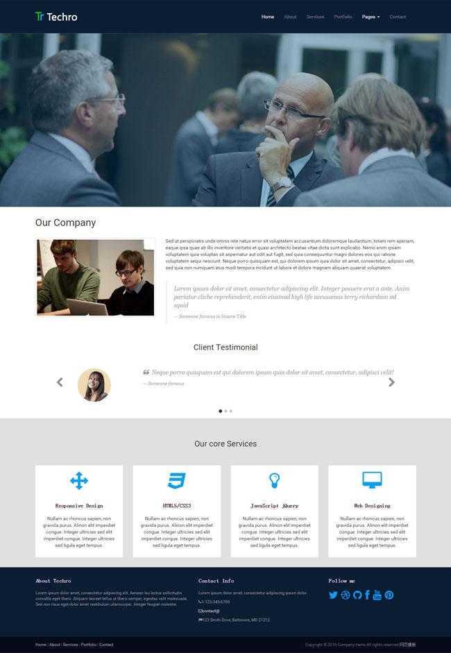 商务交流平台HTML5网站模板插图