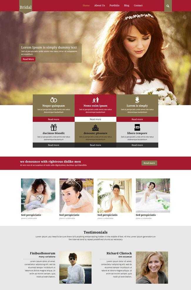 婚纱摄影网站模板插图