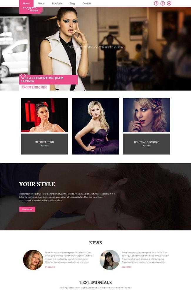 棉袄服装公司网站模板插图