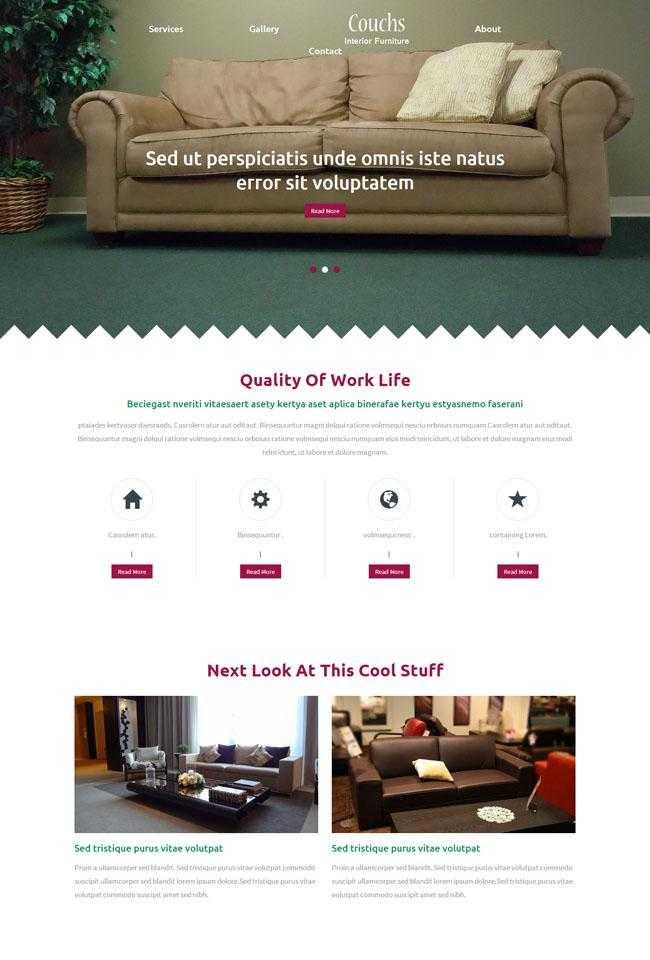 沙发家具行业网站模板插图