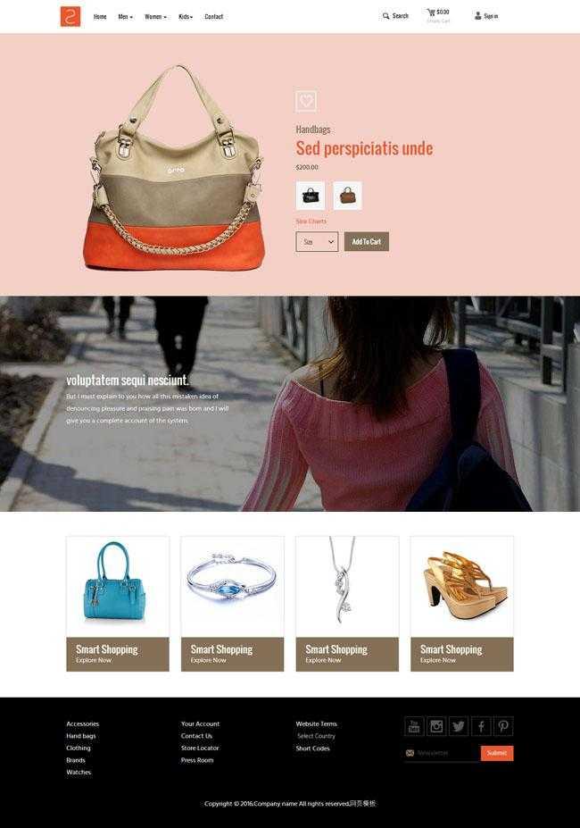 品牌包包网店代理网站模板插图