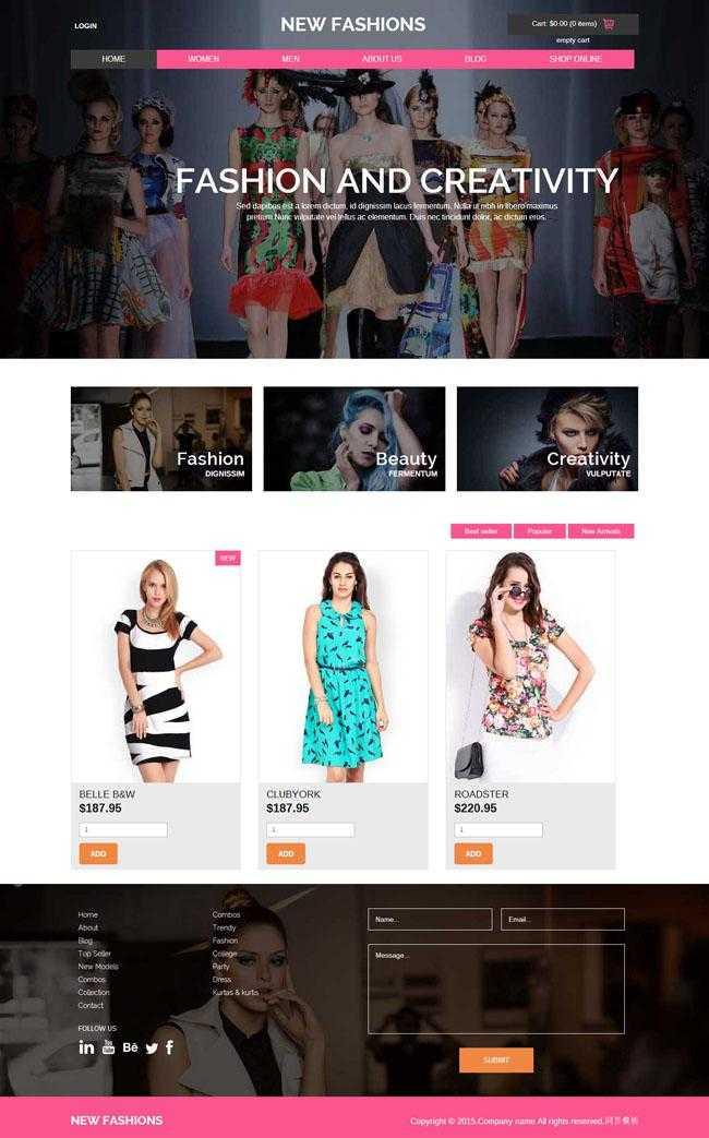 巴黎时装秀购物网站模板插图