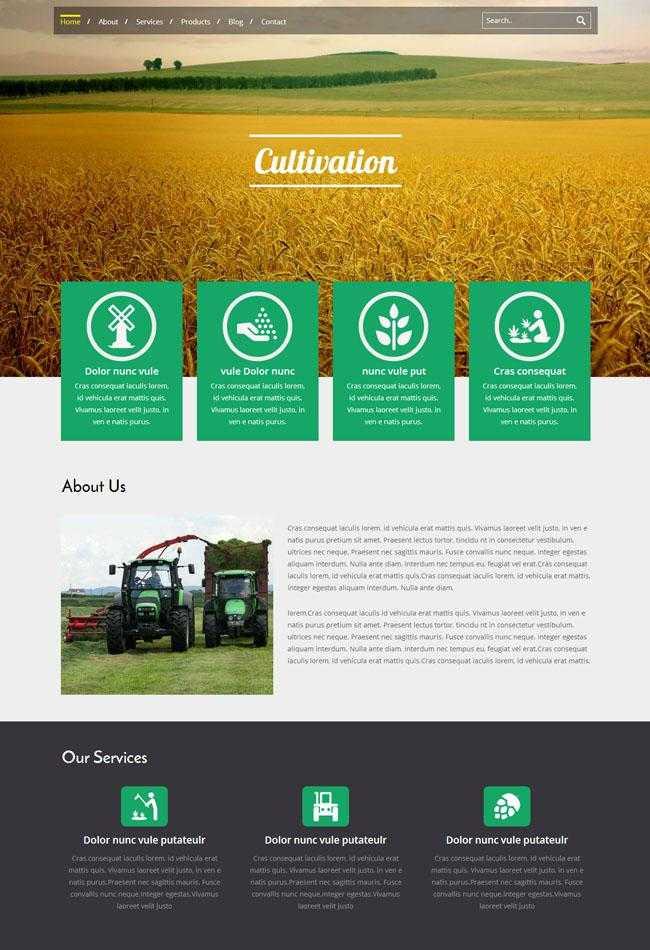 大气农业集团企业CSS3模板插图