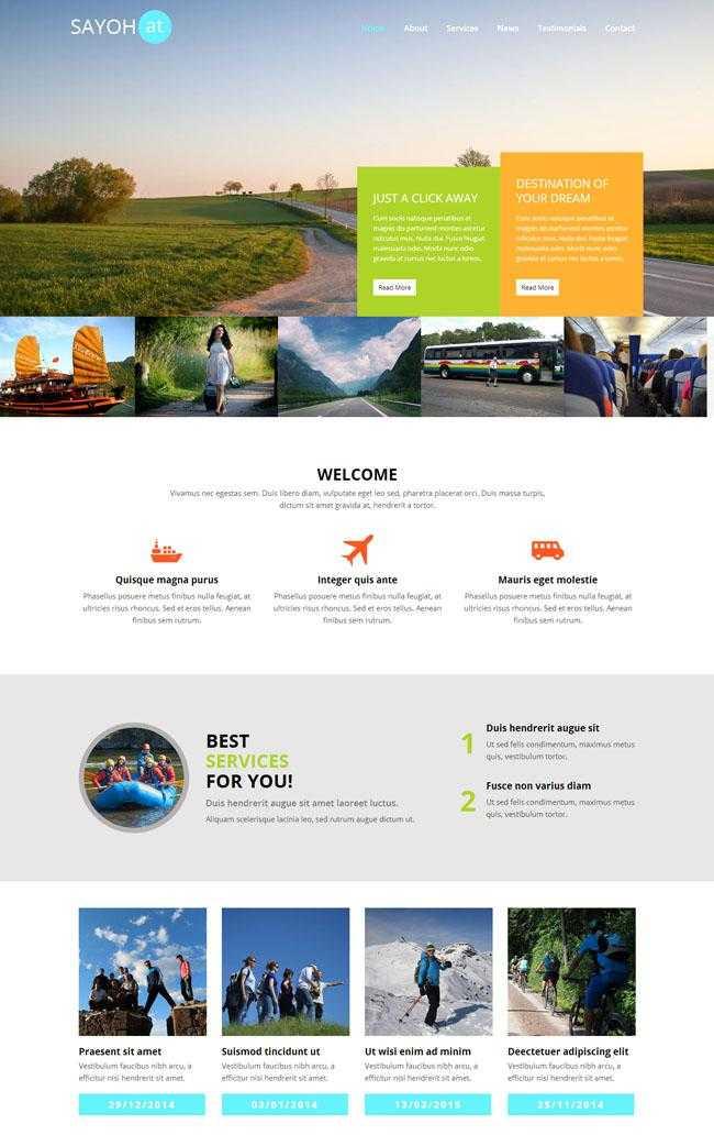 海外旅游公司CSS网站模板插图