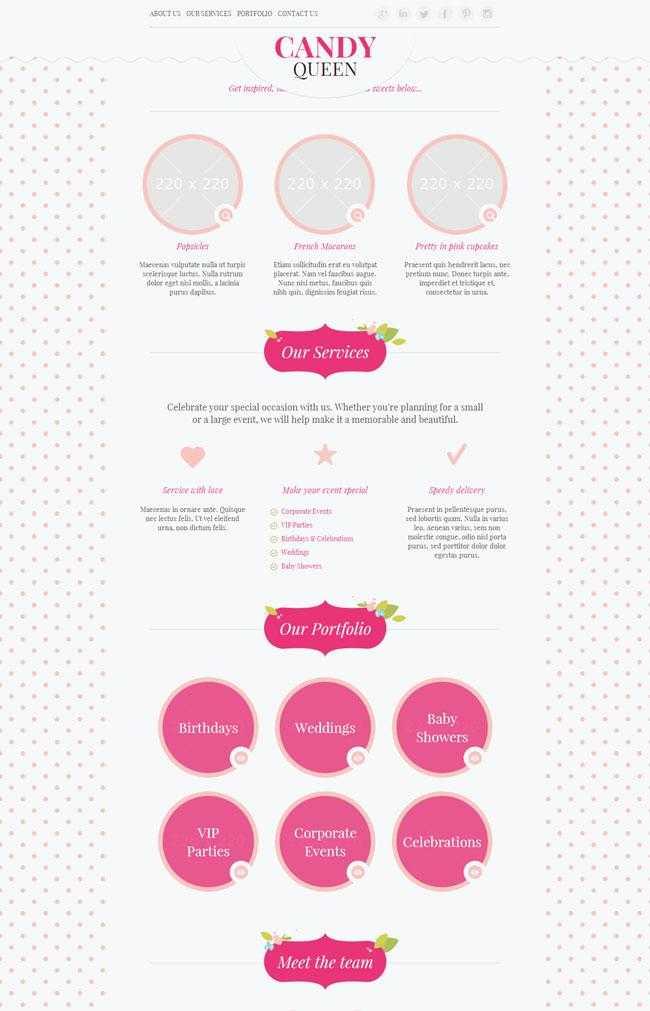 粉色恋爱交友企业网站模板插图