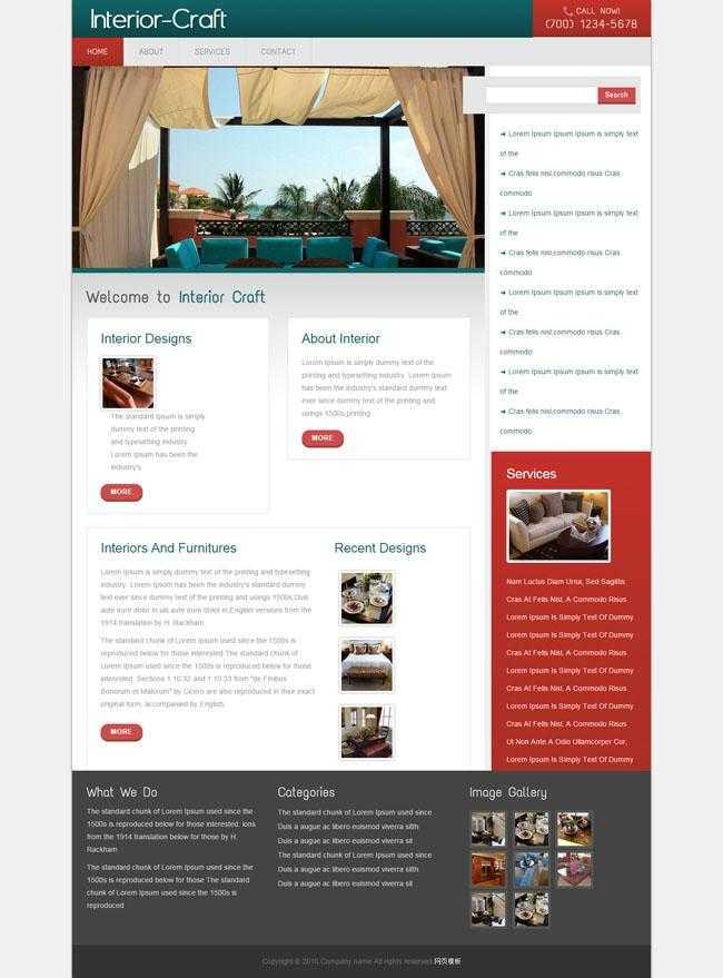 室内建筑师HTML网站模板插图