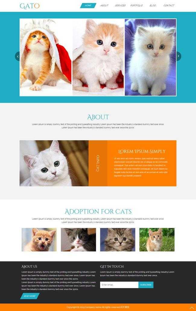 宠物猫买卖交易网站模板插图