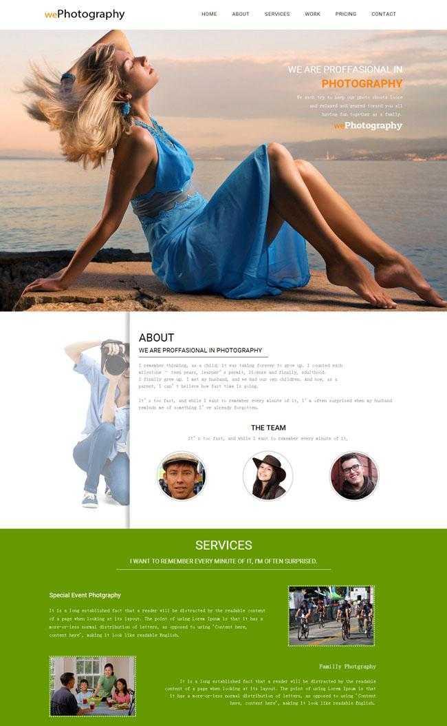 人体艺术展示网站模板插图