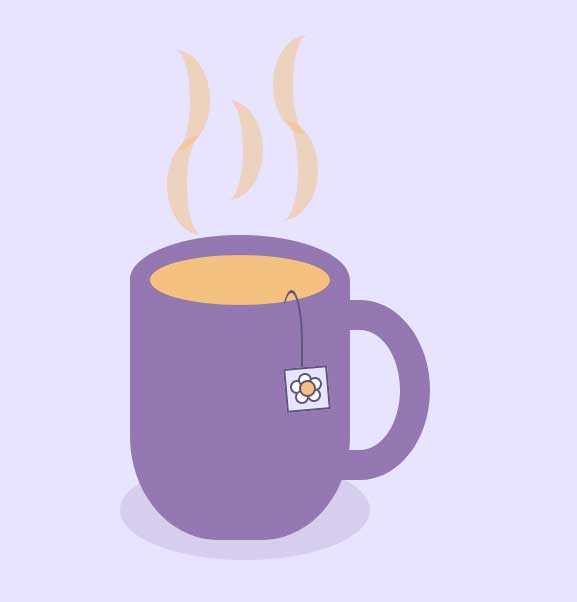 紫色的午后泡茶ui特效