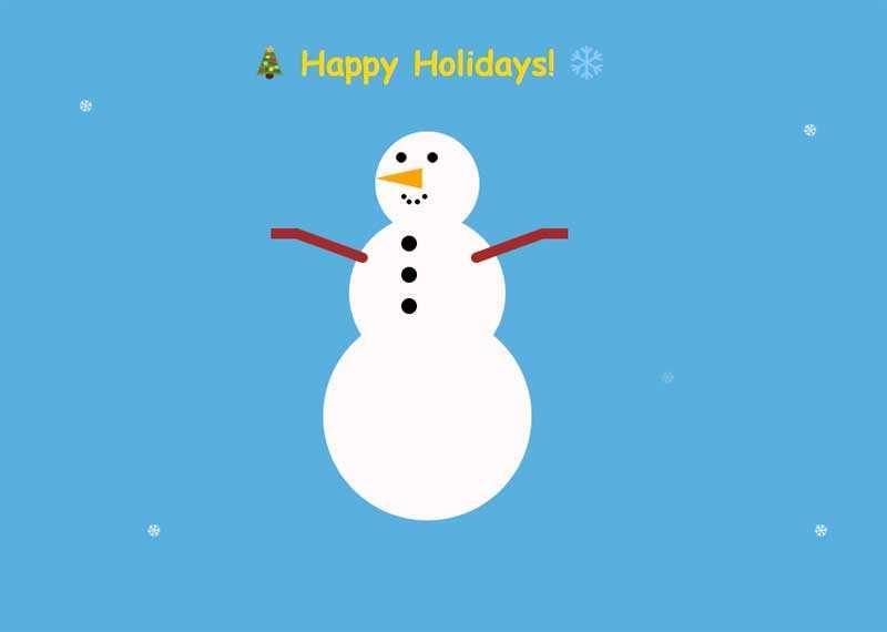 冬季雪人节日快乐动画特效