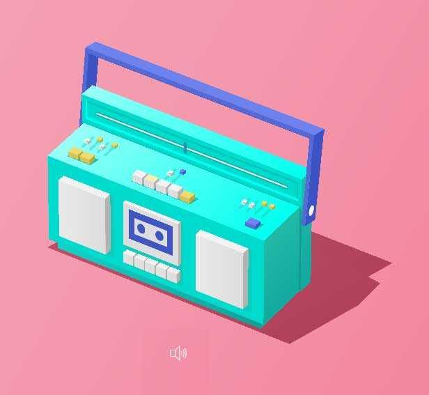 卡通3D收音机播放动画特效