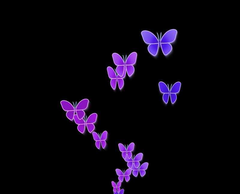 彩色的蝴蝶canvas动画