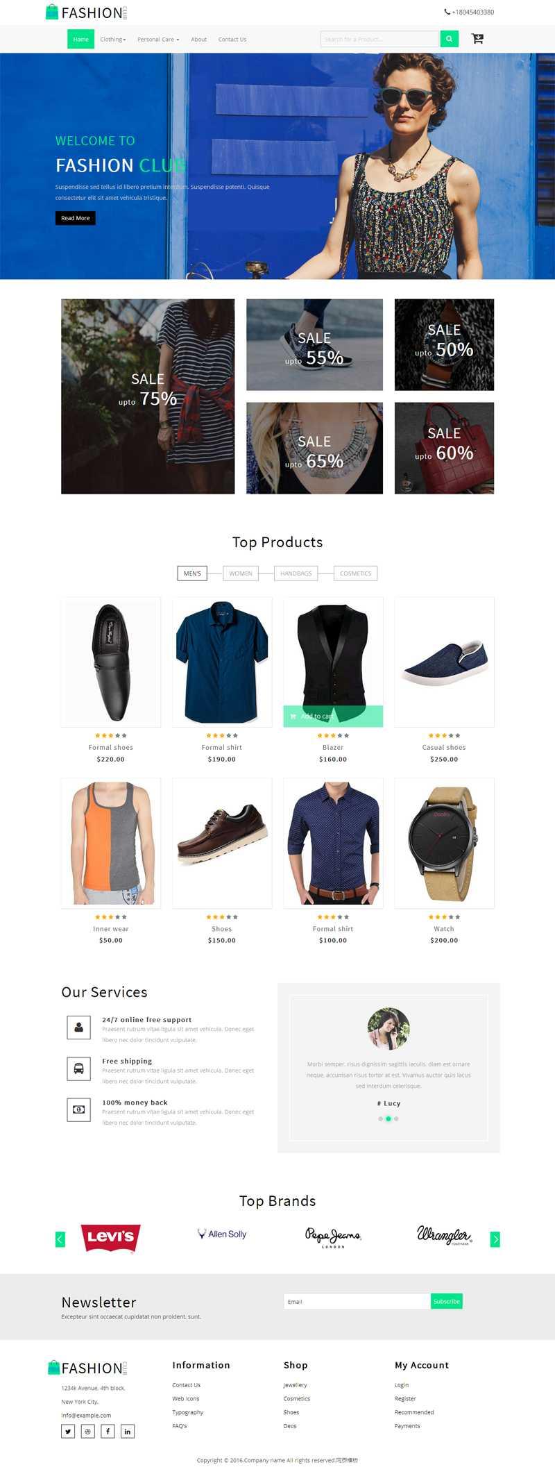 大气响应式的时尚女装购物商城模板html源码