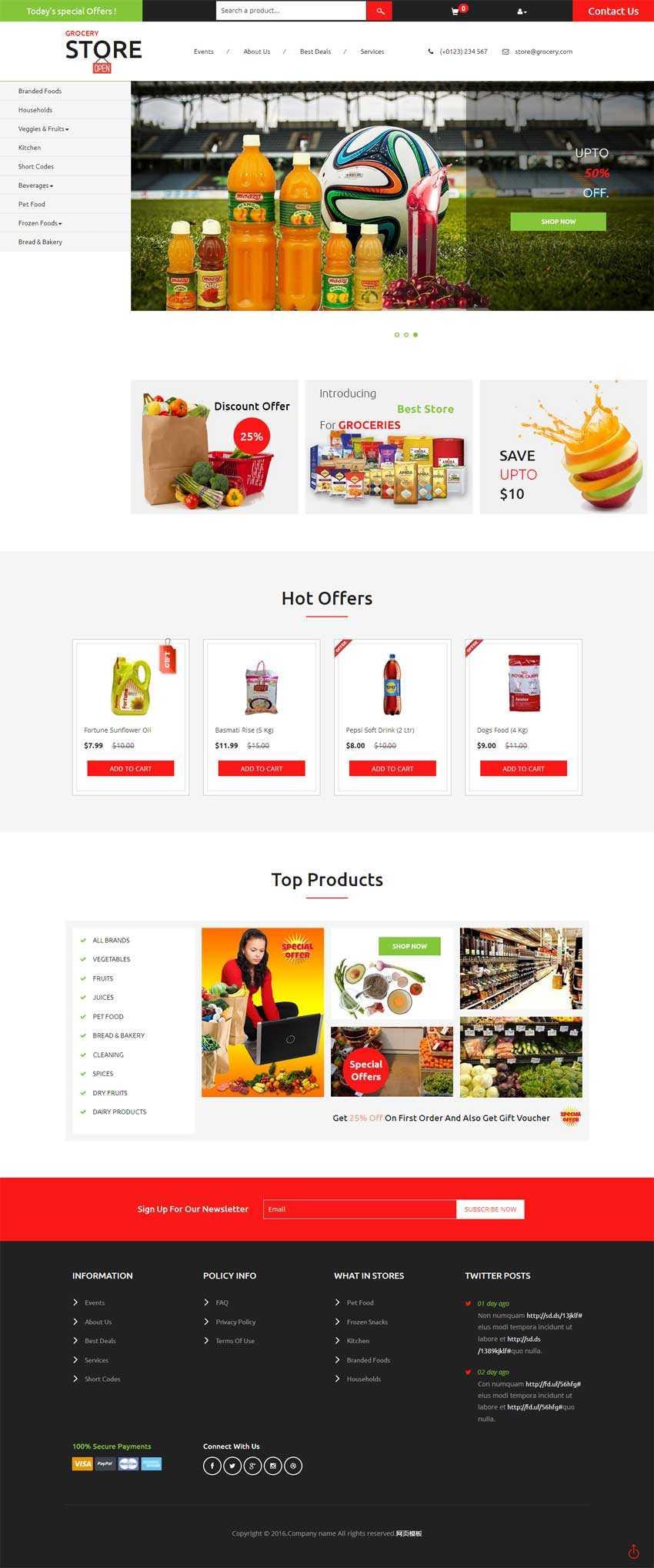 国外网上超市购物商城模板html源码