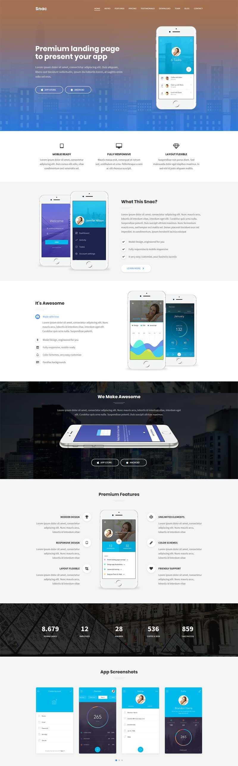 大气的app软件介绍官网html5动画模板