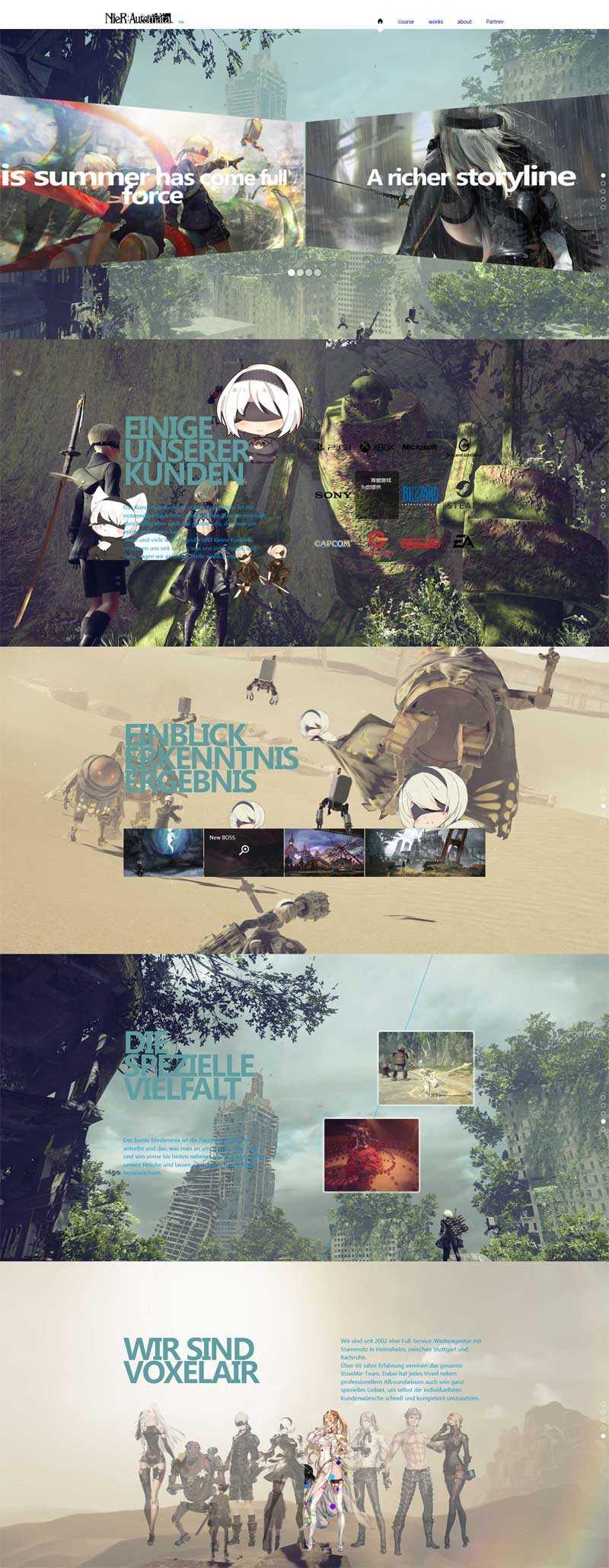 全屏滚动的游戏介绍单页模板