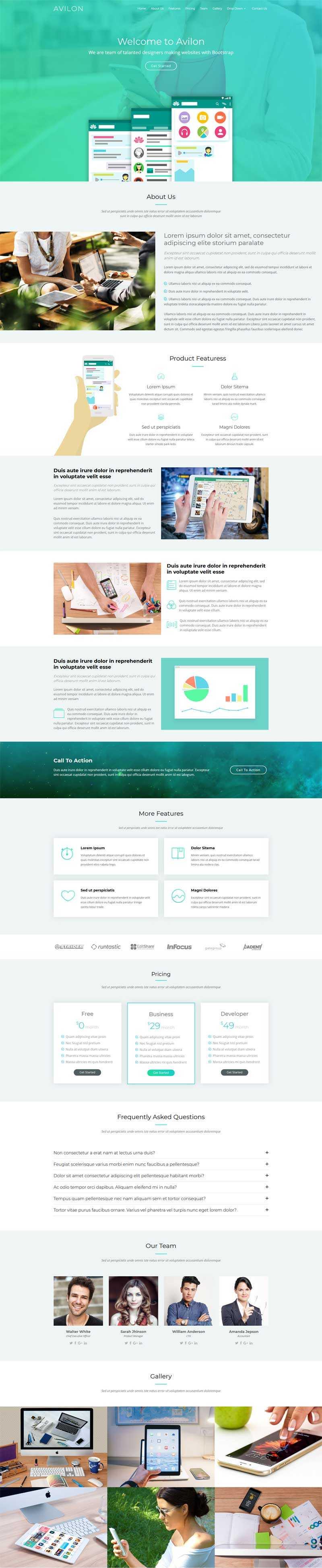 绿色的企业产品介绍单页动画html5模板